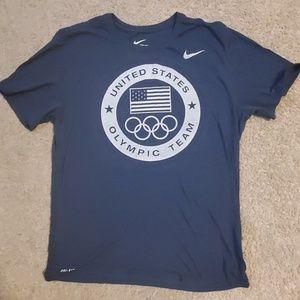 Navy blue Nike dri-fit US Olympic shirt